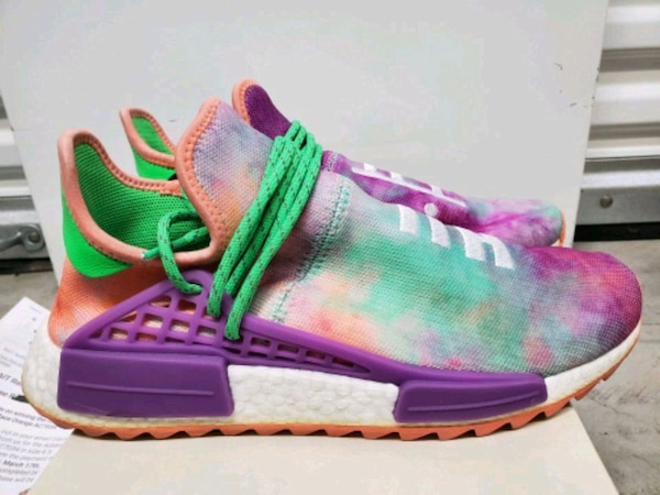 newest 8d05f 4090b Adidas Pharrell x NMD Human Race Trail Holi