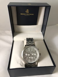 Brooks Brothers Chronograph Watch - Stainless Steel NEW WITH TAGS