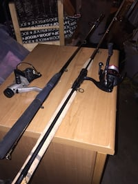 Fishing rods and tackle bag ugly stick never been used. Some stuff in the tackle bag 2 Chilliwack, V2R