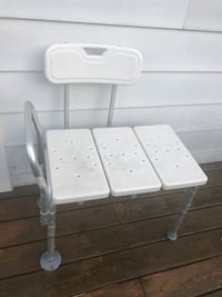 White and gray plastic chair for assistance in the washroom Ajax, L1S 2V8