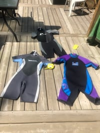 Wet suits $50 each or all for $100.  Edmonton