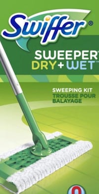 Swiffer sweeper + dry and wet sheets
