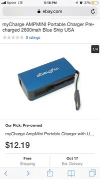 Portable charger  2282 mi