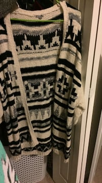 Black and white tribal cardigan Hagerstown, 21742