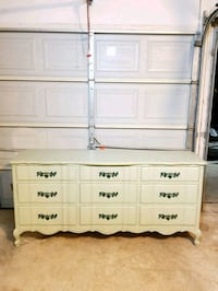 French Provincial 9 drawer dovetailed constructed