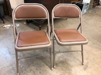 (TWO ONLY) Brown/Orange Leather Folding Chair Garland