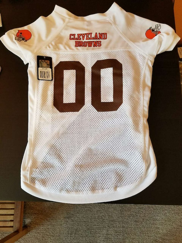 new product 642e2 1b948 Cleveland Browns Pet Dog Football Jersey XL