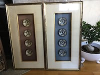 Collectors items. Framed Chinese rice bowls Fredrikstad, 1613