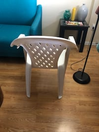 3 white plastic chairs for sale. Rarely used Edmonton, T6H 4L4