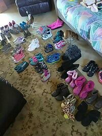 Lot of shoes 3-4 8-9 boys and girls.
