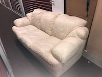 3 piece Ivory leather couches GREAT CONDITION  Dumont, 07628
