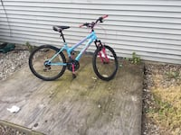 blue and green hardtail mountain bike Middletown, 07748