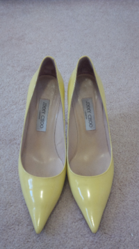 Jimmy Choo Patent Yellow Pumps - Size 8 Toronto