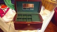 brown wooden jewelry box Maplewood, 63143