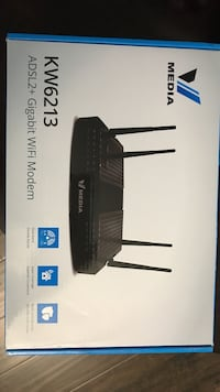 black Media KW6213 ADSL2+ Gigabit Wi-Fi modem box