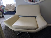 white Leather sofa chair Spring Valley, 10977