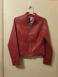 red leather zip-up jacket Wichita