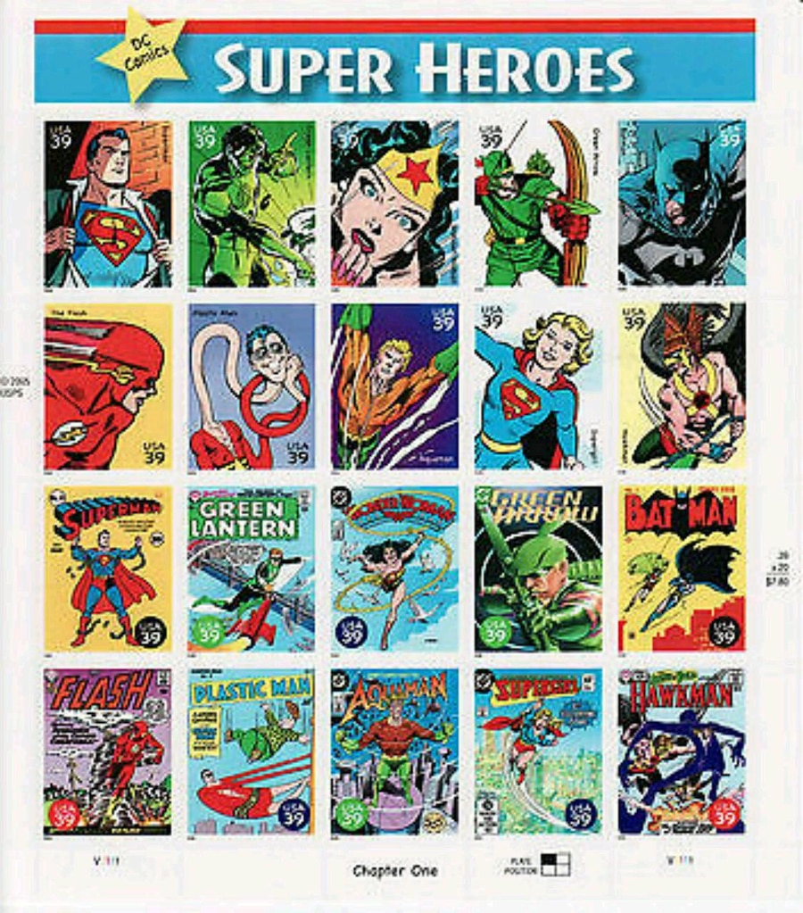 DC STAMP 1ST DAY OF ISSUE USPS PROMO RARE MINT PLASTIC MAN