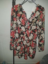 white, black, red, and green floral long sleeve sh Las Vegas, 89169