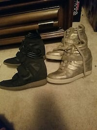 2 pairs of wedge platform sneakers Sioux Falls, 57108
