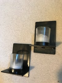 Pair of matching oil rubbed bronze tealight candle wall holders Milton, 30004