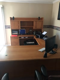 Solid Wood Desk, Hutch and File Cabinet  Fairfax, 22030