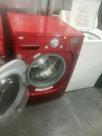 red and gray front-load washing machine Lynwood, 90262