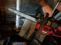 black and red Craftsman chainsaw Barberton, 44203
