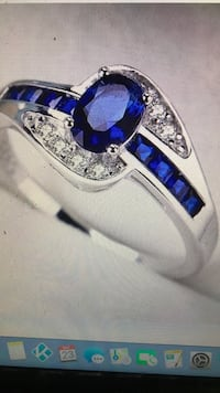 Beautiful Brand New Midnight Blue Diamonique Engagement Ring Size 7  Dracut, 01826