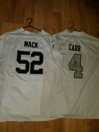Nike Oakland Raiders Carr & Mack Jerseys