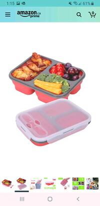brand new collapsible meal prep container Delta