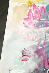 pink and white abstract painting Richmond Hill, L4C