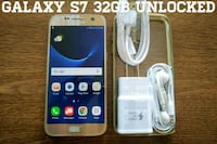 Gold Galaxy S7 UNLOCKED 32GB w/ Accessories  Arlington