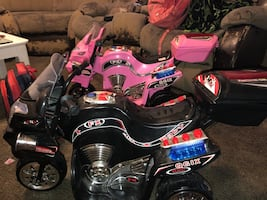 Kids ride on motercycle