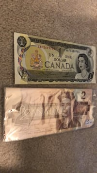 Set of two sequential 2.00 bills plus a 1.00 bill Edmonton, T5X 3X9