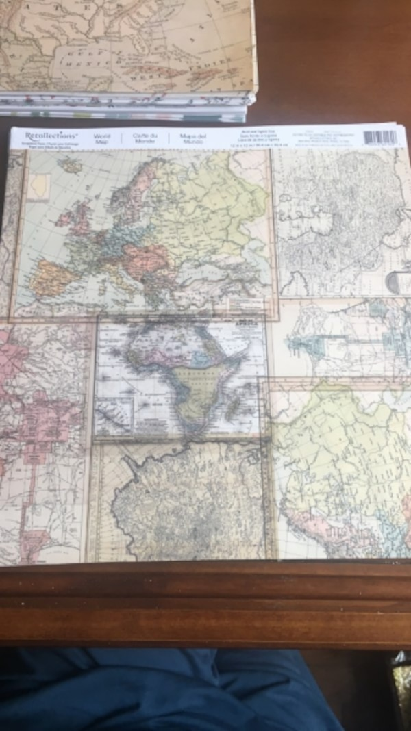 Used 12x12 world map paper pack for sale in new york letgo 12x12 world map paper pack gumiabroncs Images