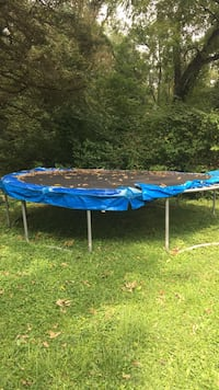 blue and black trampoline with enclosure Rockville, 20851