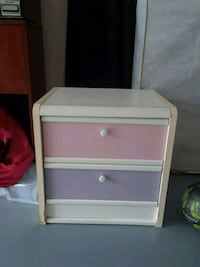 white and pink wooden 2-drawer nightstand Dumfries, 22025