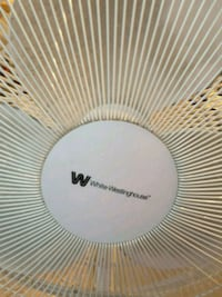 White Westinghouse fan