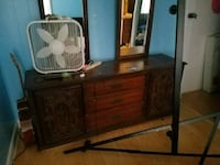 brown wooden dresser with mirror Greensboro, 27403