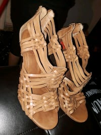 pair of brown leather gladiator sandals Miami, 33162