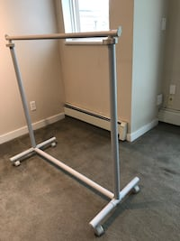 Sturdy clothes rack.  Height is adjustable Coquitlam, V3J 3Z4