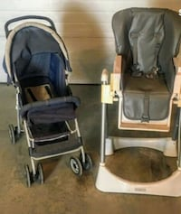 STROLLER & HIGH CHAIR SET - GREAT CONDITION Calgary, T2E 0K6