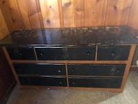 black wooden TV stand with flat screen television Riverside, 92504