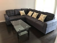 Brand new large fabric sectional sofa in grey or blue on sale  多伦多, M1S 1T7