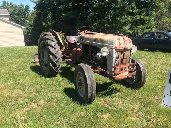 Ford tractor and plow (works perfectly)