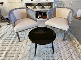 """NEW 24"""" Round Black Lacquer Coffee Table /Side Table"""