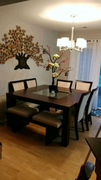 brown wooden dining table and chairs Aspen Hill, 20906