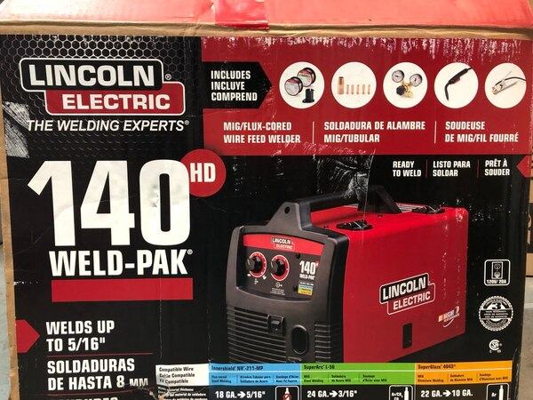 Lincoln Electric Mig Welder >> Used Lincoln Electric 140amp Weld Pak 140 Hd Mig Wire Feed Welder