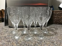 Crystal wine glass-set of 7 Mississauga